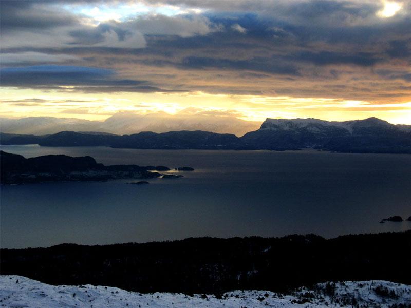 Utsikt fra Tøsdalfjellet