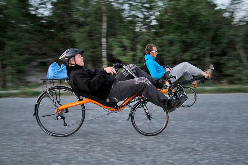 Gang og sykkel i Os